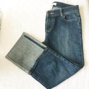 WHITE HOUSE/BLACK MARKET High Cuffed Capri Jeans